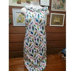 Anthropologie Larke Dress Large Parrot Tropical